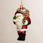 European Glass Toy Bag Santa Ornament