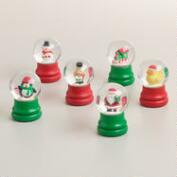 Mini Holiday Snow Globes, Set of 6