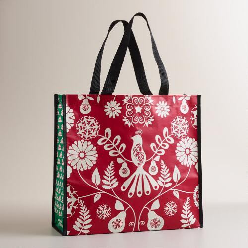 Suzani Birds Reusable Tote Bag