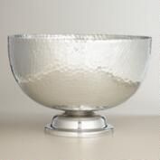 Hammered Aluminum Pedestal Drink Bowl