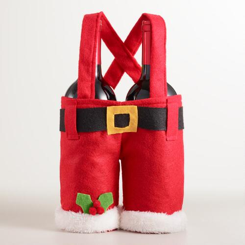 Santa Pants Double Wine Carrier