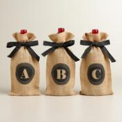 Monogram Jute Wine Bag Collection