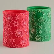 3x4 Red and Green LED Flameless Candles, Set of 2