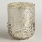 Silver Dotted Mercury Glass Votive Candleholder