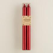 Red Taper Candles, 4-Pack