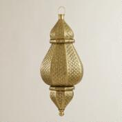 Large Embossed Tarika Hanging Lantern