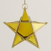 Small Green Star Hanging Lantern