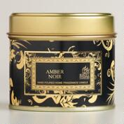 Amber Noir Travel Candle Tin