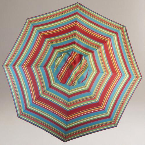 Garden Party Stripe 5-Foot or 9-Foot Umbrella with Bag