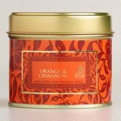 Orange and Cinnamon Travel Candle Tin