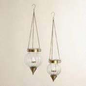Clear and Melon Tarika Hanging Lanterns