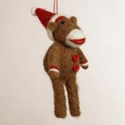 Felt Sock  Monkey Ornament