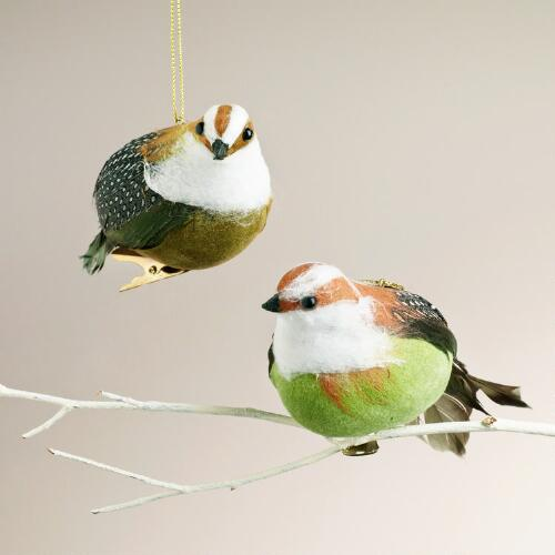 Quail Clip Ornaments,  Set of 2