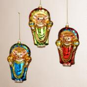 Glass Chihuahua Ornaments, Set of 3