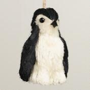 Natural Fiber Penguin Ornament
