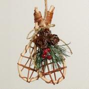 Natural Fiber Snowshoe Ornaments