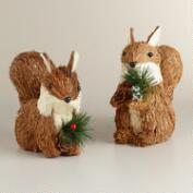 Natural Fiber Chipmunks, Set of 2
