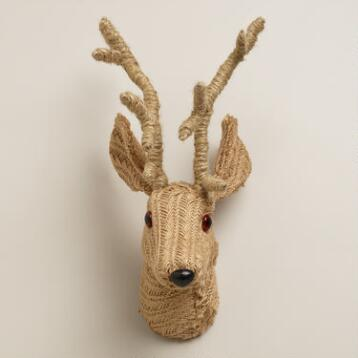 Jute Stag Head Wall Decor