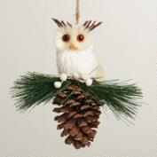 Glitter Owl on Pinecone