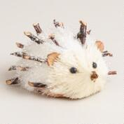 White Glittered Fabric Hedgehog