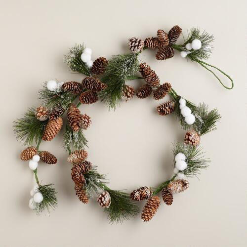 Pinecone and Pompom Garland