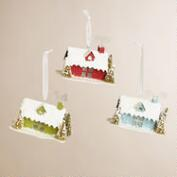 Paper Mistletoe House Ornaments, Set of 3