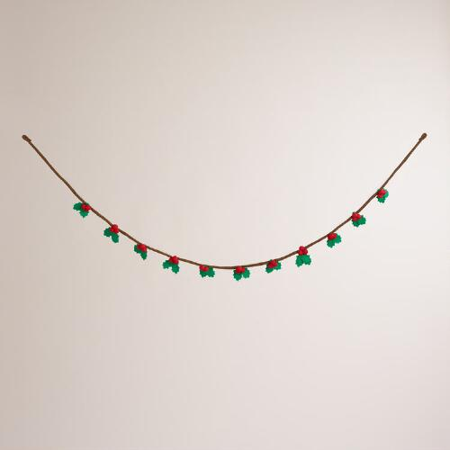 Felt Holly Garland
