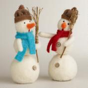 Felt Snowmen, Set of 2