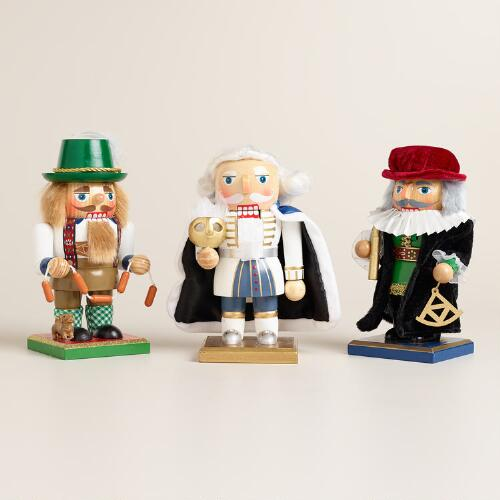 European Chubby Nutcrackers, Set of 3