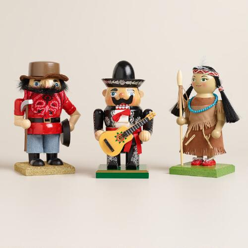 American Chubby Nutcrackers, Set of 3