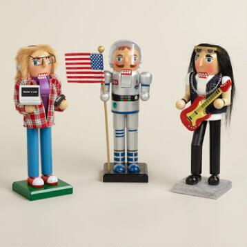 Astronaut, Rock Star and Techie Nutcrackers, Set of 3