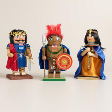 Ancient Chubby Nutcrackers - Set of 3