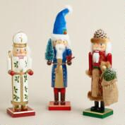 Old-World Santa Nutcrackers - Set of 3