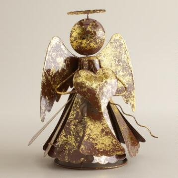 Gold Metal Angel Tree Topper