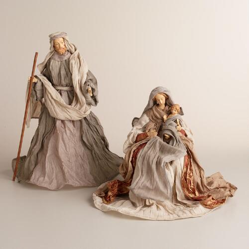 Joseph and Mary Figures, Set of 2
