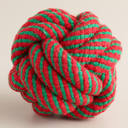 Red and Green Knot Pet Ball