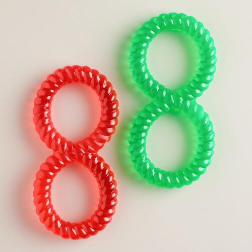 Soft Rubber Chew Rings for Dogs, Set of 2
