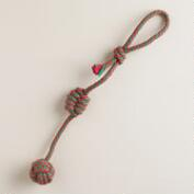 Long Rope Christmas Dog Toy