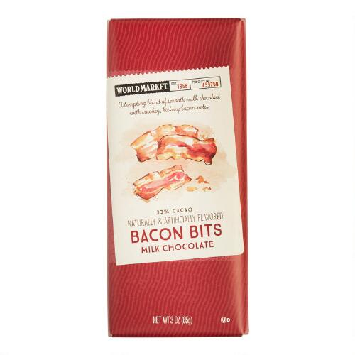 World Market® Bacon Milk Chocolate Bar, Set of 2