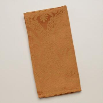 Amber Damask Ogee Napkins, Set of 4