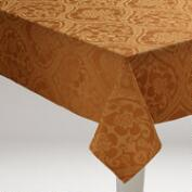 Amber Damask Ogee Tablecloth