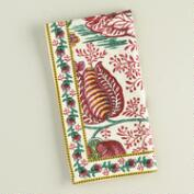 Pomegranate Floral Cotton Napkins, Set of 4