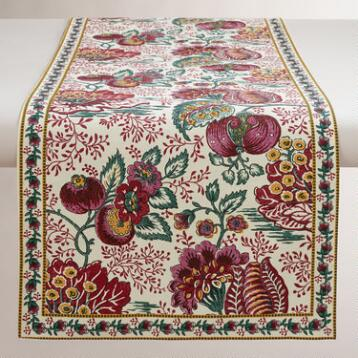 Pomegranate Floral Cotton Table Runner