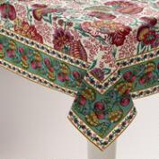 Pomegranate Floral Cotton Tablecloth