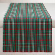 Red and Green Plaid Cotton Table Runner