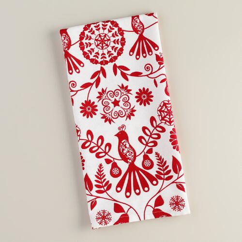 Http Www Worldmarket Com Product Red And White Suzani Birds Cotton Kitchen Towel Do