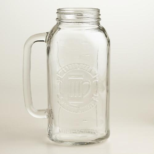 Mason Jar Gallon-Size Beer Stein