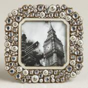 Small White Beaded Kinsey Frame