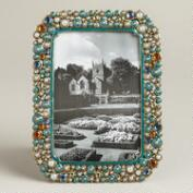 Medium Turquoise Beaded Kinsey Frame