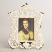 White Scroll Tiana Frame